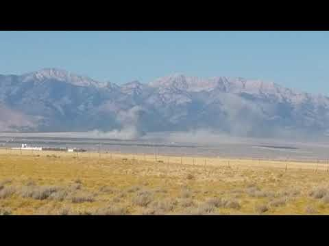 Aftershock  at Dugway Proving Ground in Tooele County Utah dropping bombs. Aftershock is crazy.