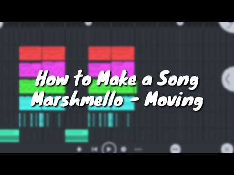 Fl Studio Mobile 3 : How to make a song Marshmello - Moving On Remake