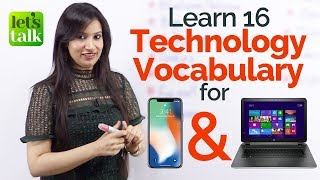 Learn Technology Vocabulary for Mobile Phone & Computers  - English Lessons to speak fluent English