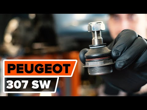 How to changefront ball jointonPEUGEOT 307 (3H) [TUTORIAL AUTODOC]