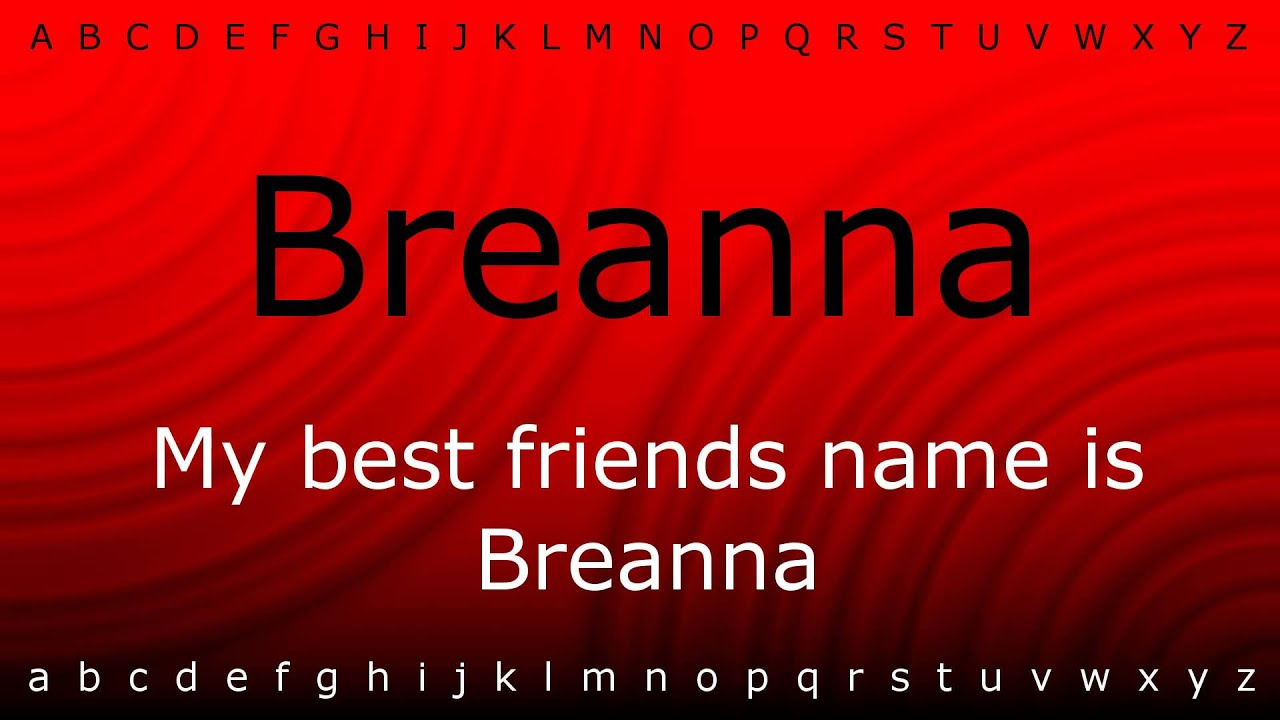 how to say breanna in spanish