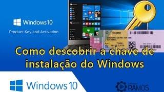 Como descobrir a chave de instalação do Windows 10 Product Key – Sem Programas | professorramos ☑
