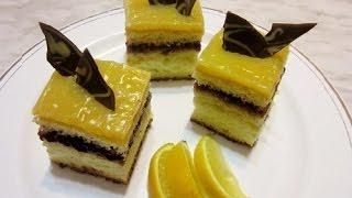 Lemon Cake Recipe With Pudding And Jam