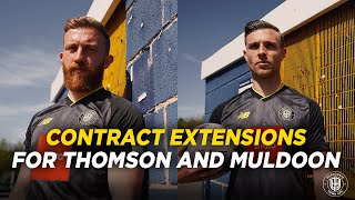 Jack Muldoon and George Thomson commit their futures to Town!