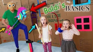 Baldi in Real Life Behind Closed Doors! Trolls Hair Huggers Toy Scavenger Hunt for Kids!!