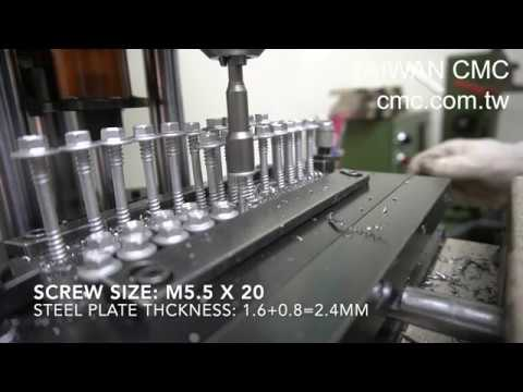 [CMC] Self-Drilling-Screw M5.5x20 Drilling Test 鑽尾攻速測試 ドリルねじ ...