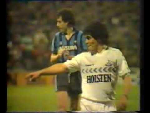 Diego Maradona Plays For Spurs 1986 Youtube