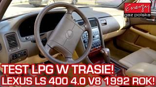 KLASYK NA GAZ W TRASIE! TEST Lexusa LS400 na gaz podczas jazdy na auto gaz LPG
