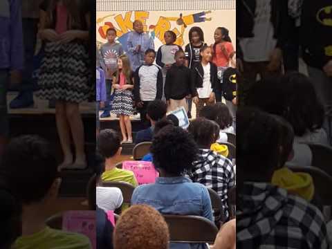 Mrs.Ong 4th grade award ceremony. Lake Rim Elementary School Fayetteville N.C. Kalise Thomas