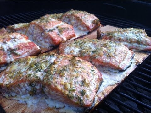 Cedar Plank Salmon Recipe - The Best!