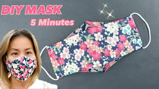 DIY FACE MASK 5 MINUTES How to Make Mask at Home Very Easy NO FOG ON GLASSES