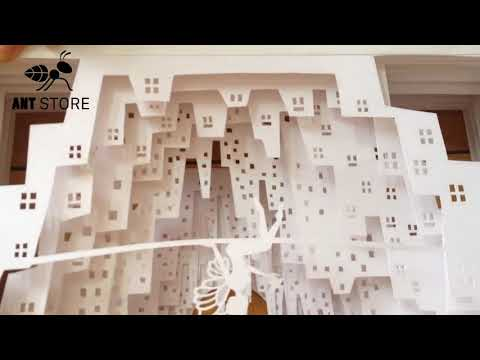 DIY paper cut - How to make Light Box - Fairt In the city - Paper Cutting Lightbox
