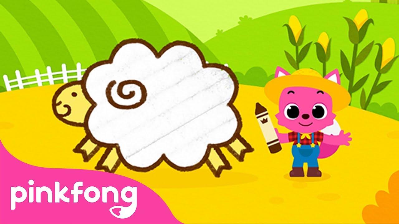 Baa-Baa Baby Lamb | Farm Animals | Baa baa black sheep | Pinkfong Animal Songs for Children