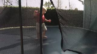 Adam loves the trampoline: February 19 2014