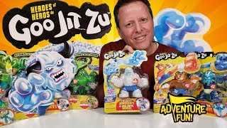 "15 Heroes of Goo Jit Zu Including the Ultra Rare ""Frostbite"" Adventure Fun Toy review by Dad!"