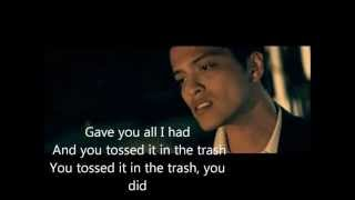 bruno mars grenade lyrics.