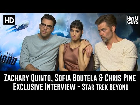 Zachary Quinto, Sofia Boutella & Chris Pine Exclusive Interview - Star Trek Beyond
