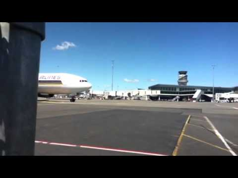 Singapore airlines just after push back at Christchurch int