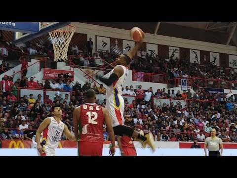 Ginebra import Justin Brownlee's highlight slam dunk in Mighty Sports' win vs UAE national team