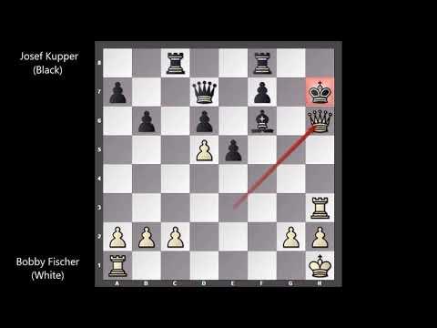 Bobby Fischer Vs Josef Kupper - Zurich (1959) #30