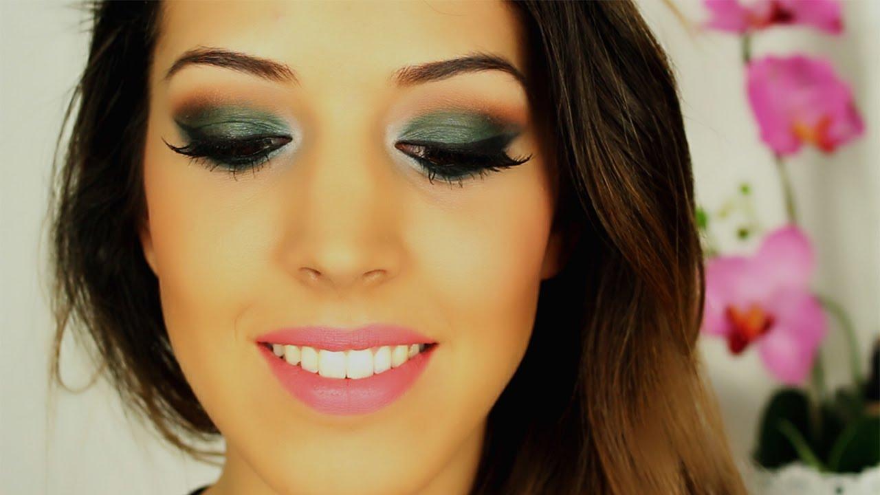 Maquillaje verde rasgado maquillaje en tono verde para for Sombras de ojos para ojos marrones