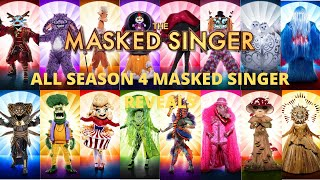 All Masked Singer Reveals (Season 4) | The Masked Singer USA