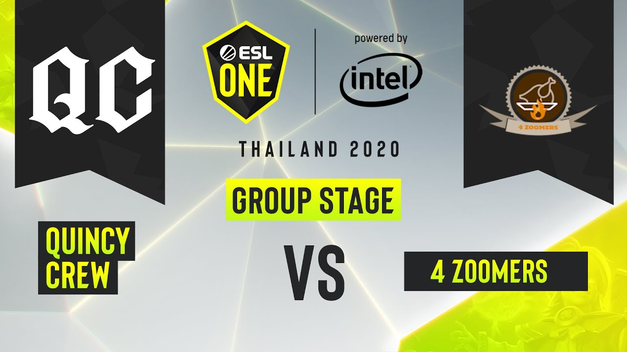 Dota2 - Quincy Crew vs. 4 Zoomers - Game 1 - ESL One Thailand 2020 - Group Stage - AM