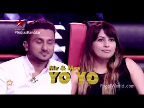 Yo Yo Honey Singh with His Wife on India Raw Star PagalWorld   HQ
