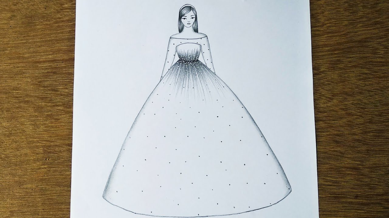 Download Easy Barbie Doll Drawing    Barbie Drawing    How to Draw a Barbie With Beautiful Dress    Drawing