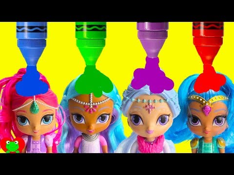 Shimmer and Shine Princess Samira Layla Magic Learn Colors and Opposites Big and Small