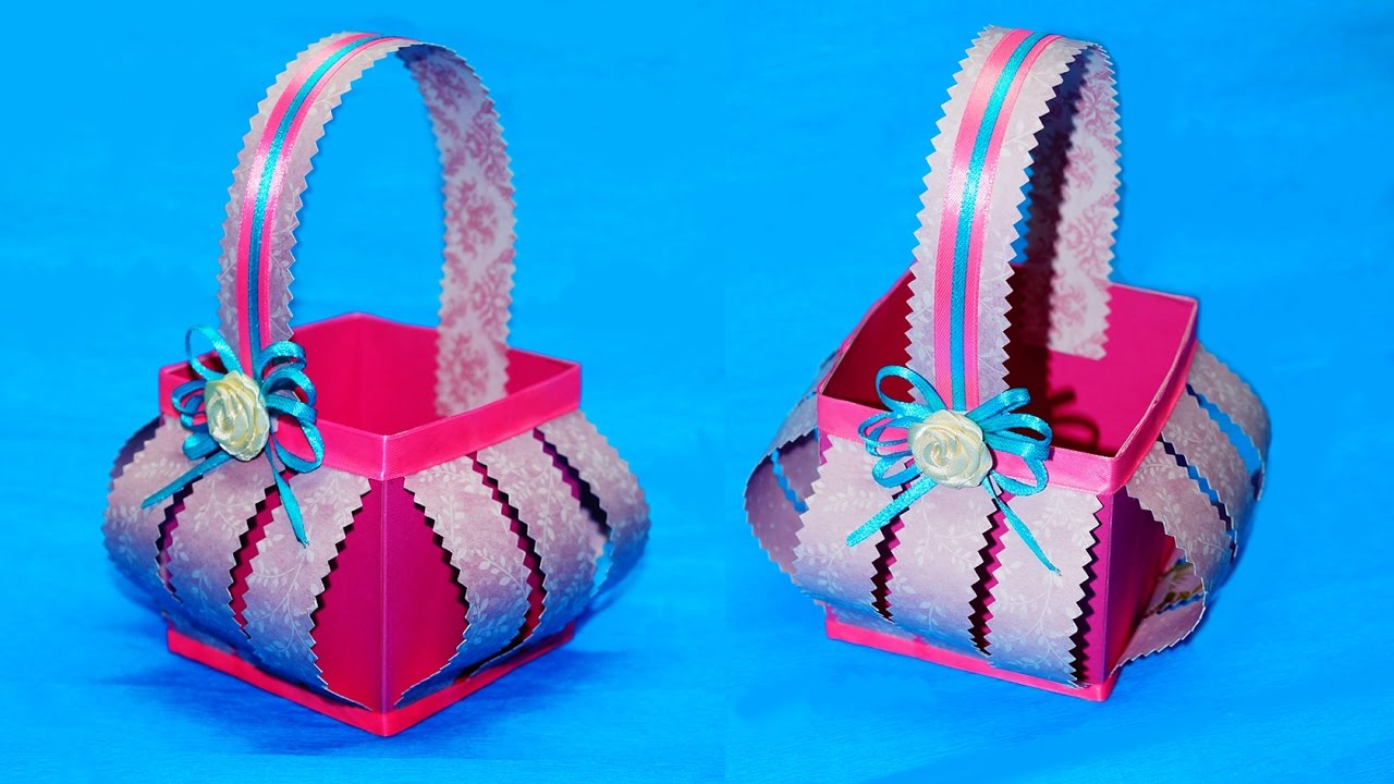 How To Make Handmade Paper Baskets Step By Step