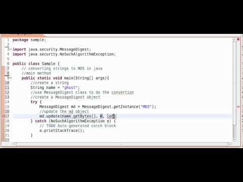 MD5 hashing in java