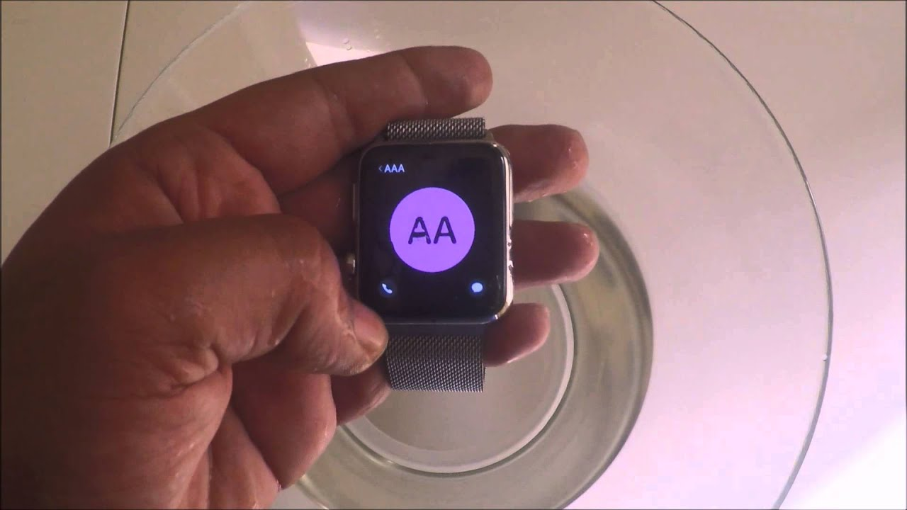 5bdce8624 Apple Watch VS Water اختبار ساعة أبل تحت الماء - YouTube