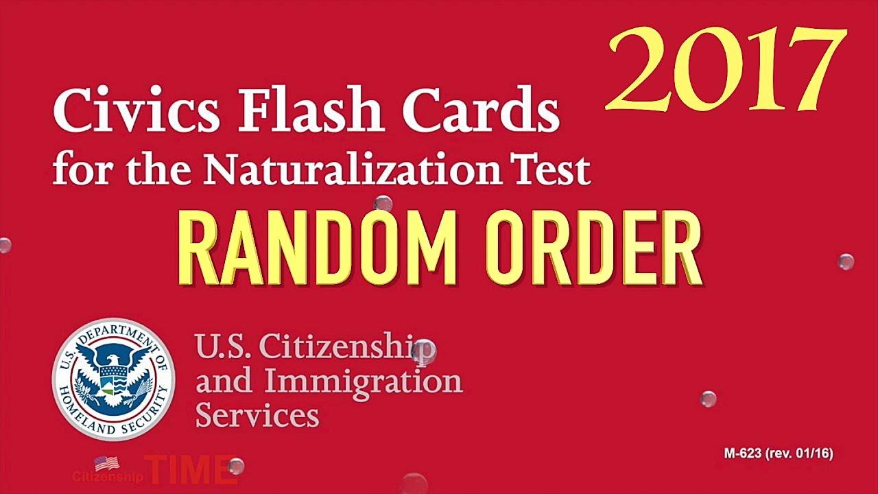 2017, US Citizenship/Naturalization Test Questions in Random Order ...