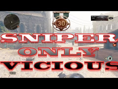 Sniper Only Vicious Metal On WAR!! (38 GUN STREAK!!)