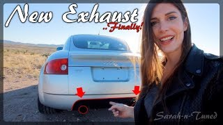 Finally! New Custom Turbo-Back Exhaust // Audi TT Quattro