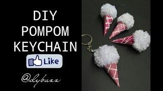 DIY| Pompom keychain | Icecream keychain