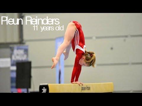 Pleun Reinders - Amazing 11 year old gymnast! (NED)