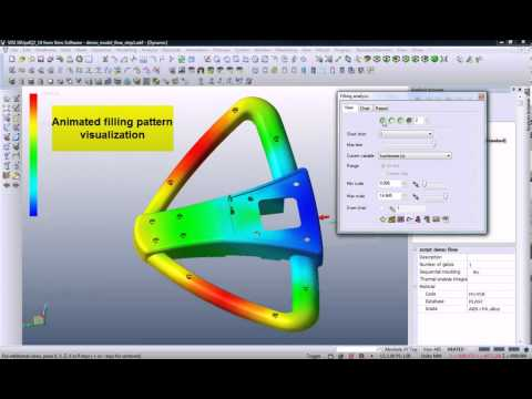 Plastic flow analysis - Integrated CAD - CAM - CAE from Vero Software