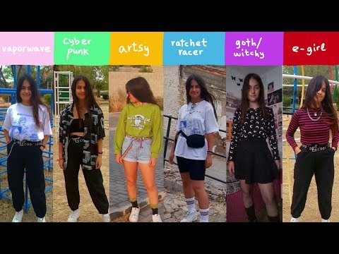 🐊9 outfits for 9 types of aesthetics🐊 (artsy, e,girl, vaporwave) //  YESSTYLE HAUL ad