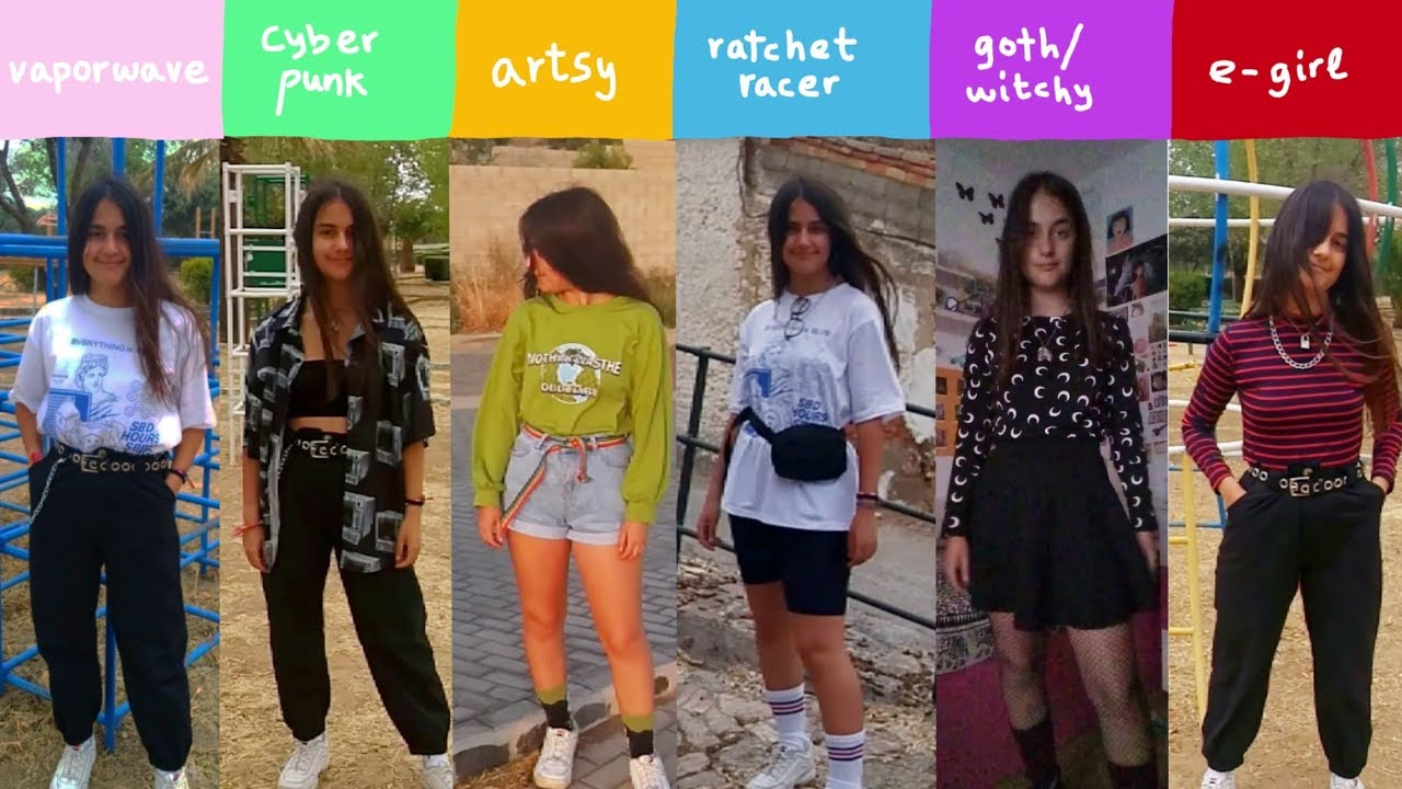 🐊9 outfits for 9 types of aesthetics🐊 (artsy, e,girl