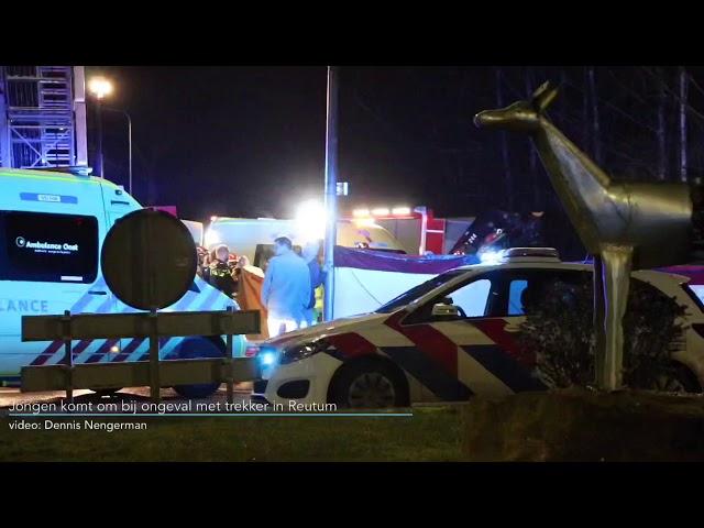 Jongen komt om bij ongeval met trekker in Reutum