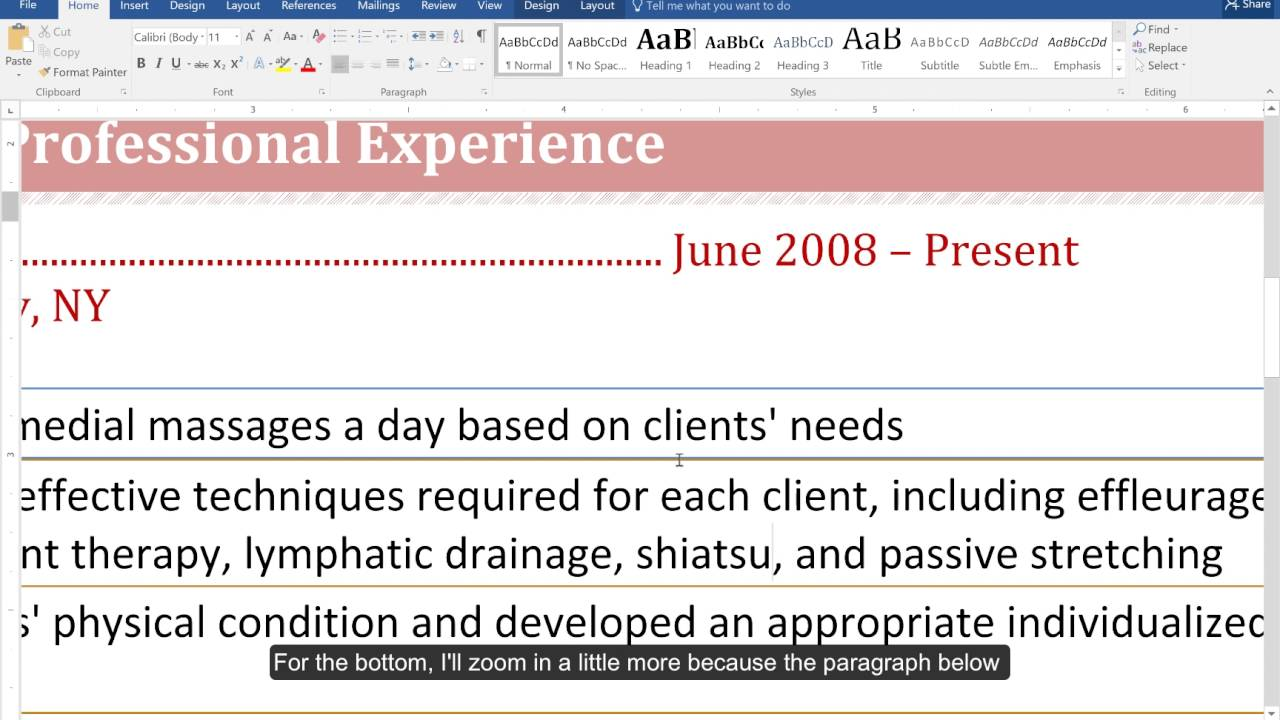Formatting A Resume In Word How To Format A Resume In 15 Minutes Step By Step Video Tutorials