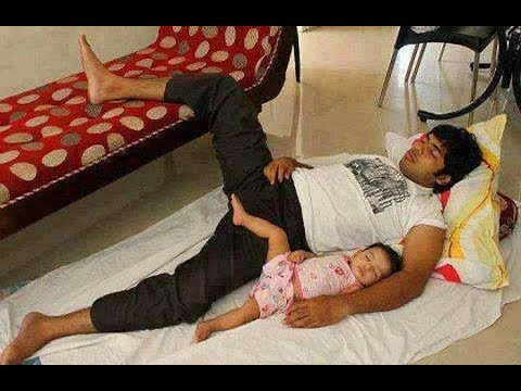 Daddies and Babies Funny Moments -  Cute Baby  Copies Daddy Compilation
