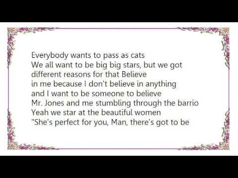 Counting Crows - Mr. Jones Acoustic VersionLive Lyrics