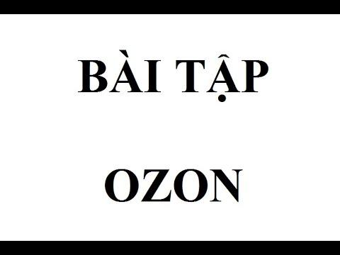 Bài tập hóa 10 bài tập ozon