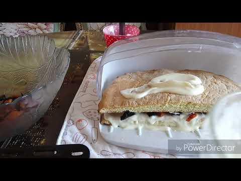 Торт с черносливом и курагой. Быстро и вкусно.