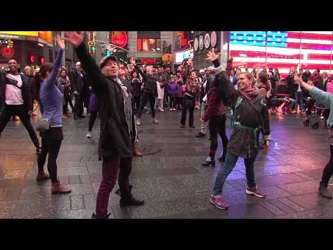 Bruno Mars Marry You  Times Square NYC Flashmob Proposal  32615