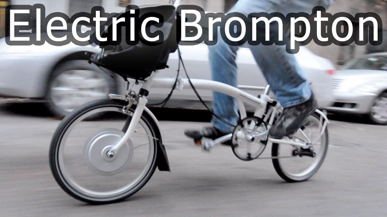 6b732967974 Electric Brompton bike, most compact electric folding bicycle - YouTube