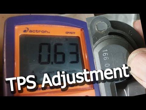 91 GMC C3500 454 350 TBI TPS Idle Adjustment